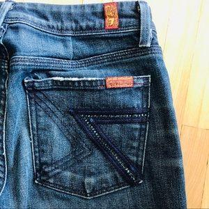 7FAM Flynt Swarovski Crystal Jeans Pocket 27 Blue